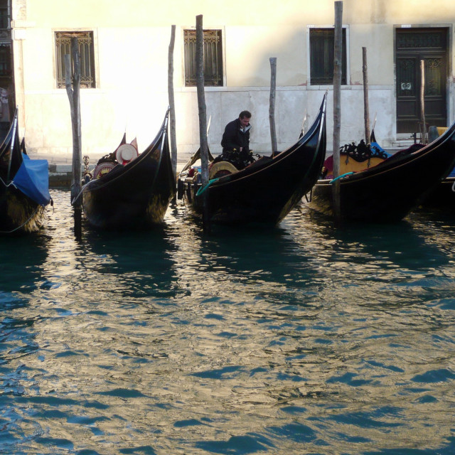 """Gondolas, Venice."" stock image"