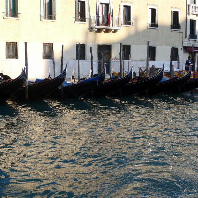 """Gondolas, Venice (2)"" stock image"