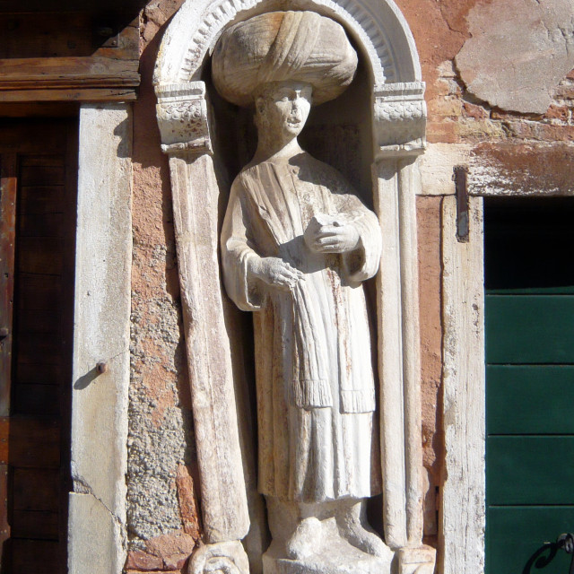"""Moorish statue, Venice."" stock image"