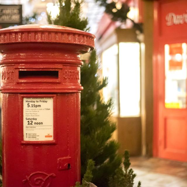 """""""The Christmas Post"""" stock image"""