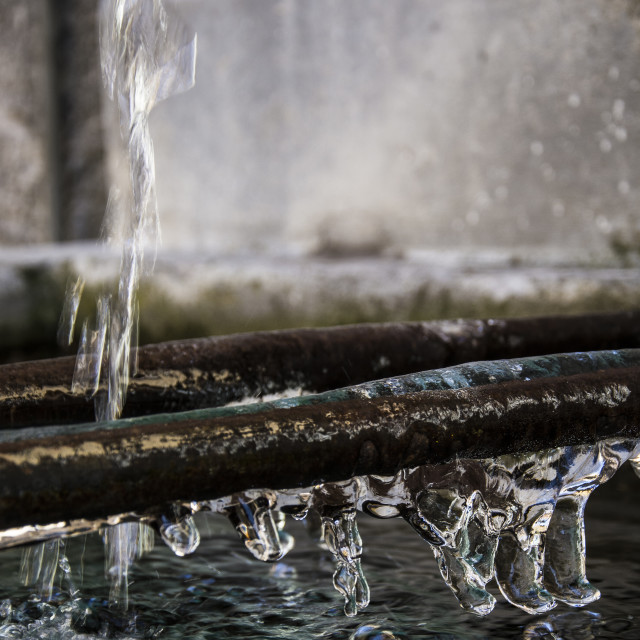 """Fountain ice"" stock image"