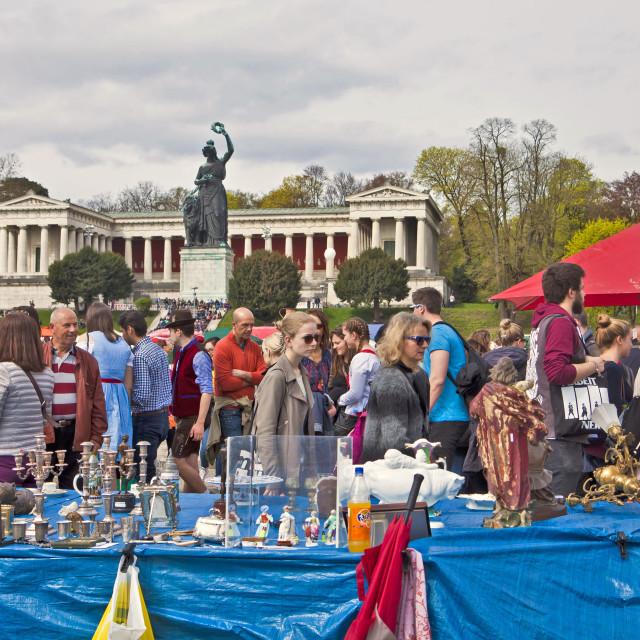 """MUNICH Germany - Open air giant flea market (Riesenflohmarkt)"" stock image"