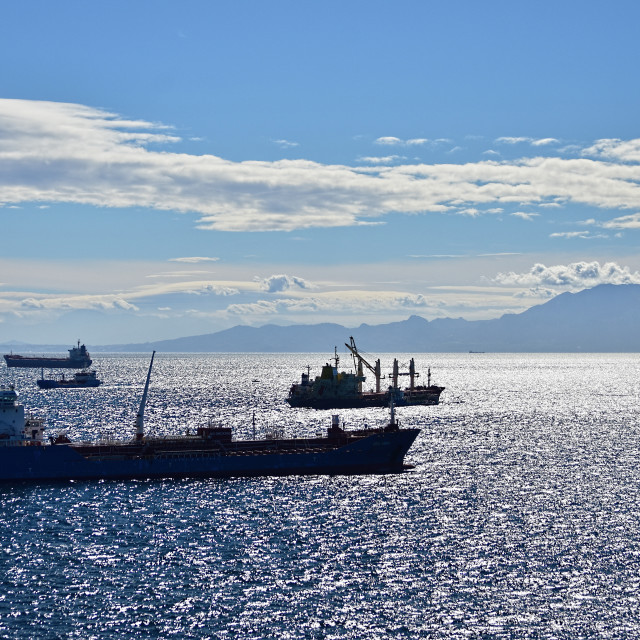 """Straits of Gibraltar"" stock image"