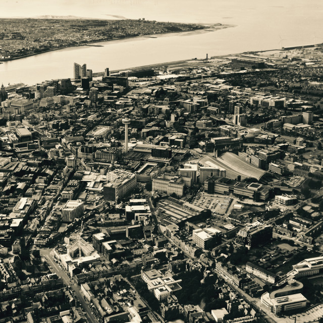 """""""Liverpool from up high"""" stock image"""