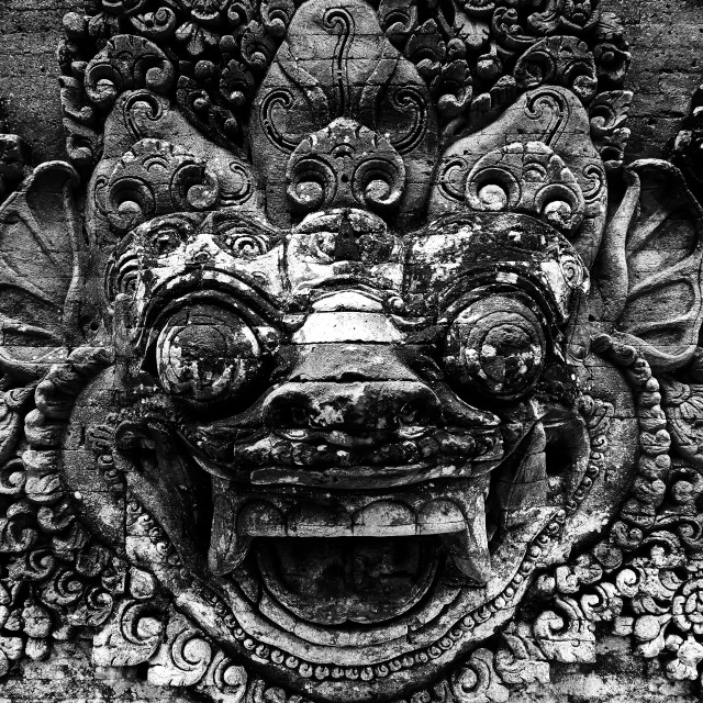 """Temple Detail, Bali"" stock image"