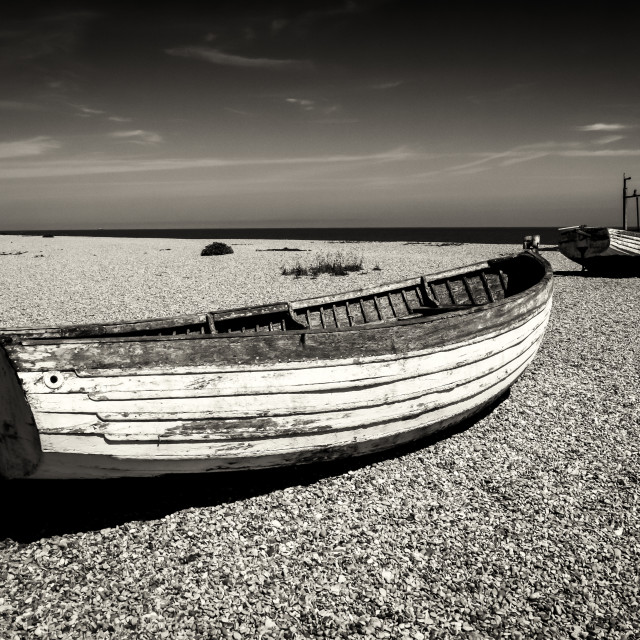 """The beach at Aldeburgh"" stock image"