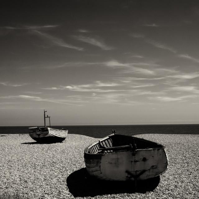 """The beach, Aldeburgh"" stock image"