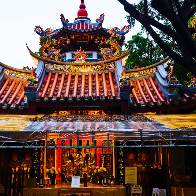 """Chinese Temple, Singapore"" stock image"