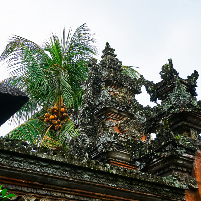 """Detail of Temple, Bali"" stock image"