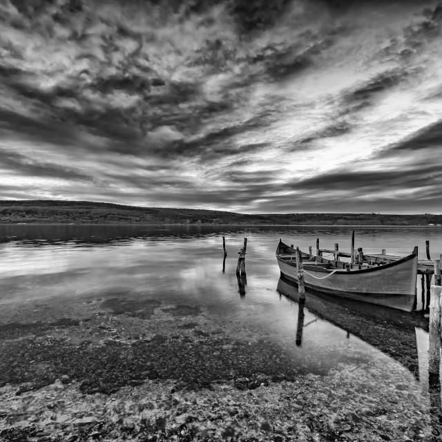 """black and white landscape"" stock image"