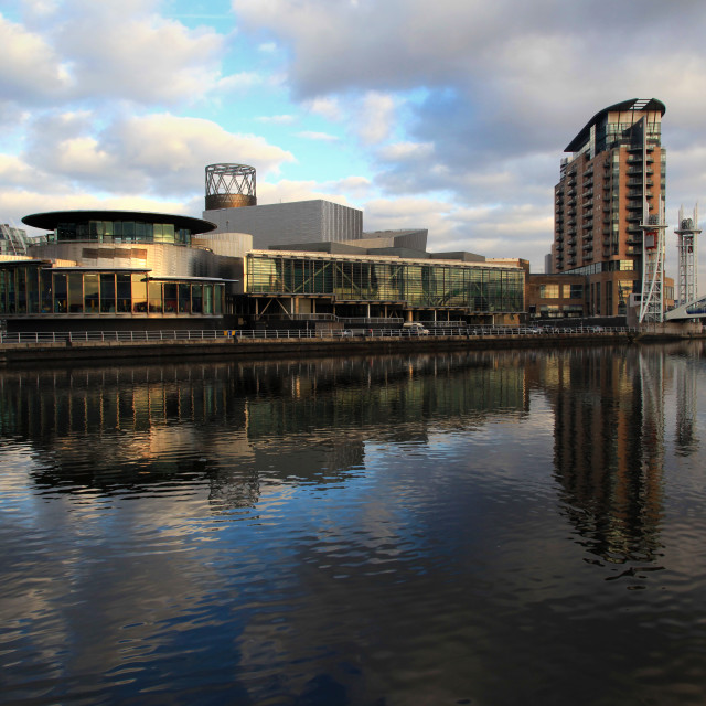 """Salford Quays"" stock image"