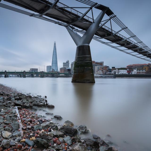 """""""The Millenium Bridge"""" stock image"""