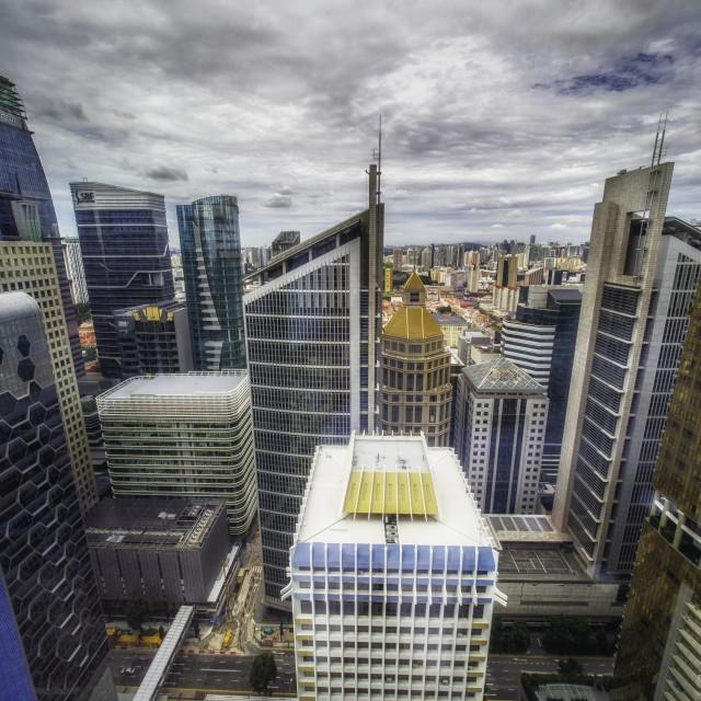 """Singapore downtown"" stock image"
