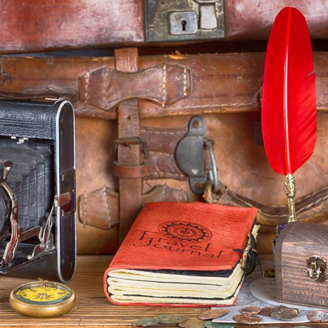 """Vintage Adventures Equipment"" stock image"