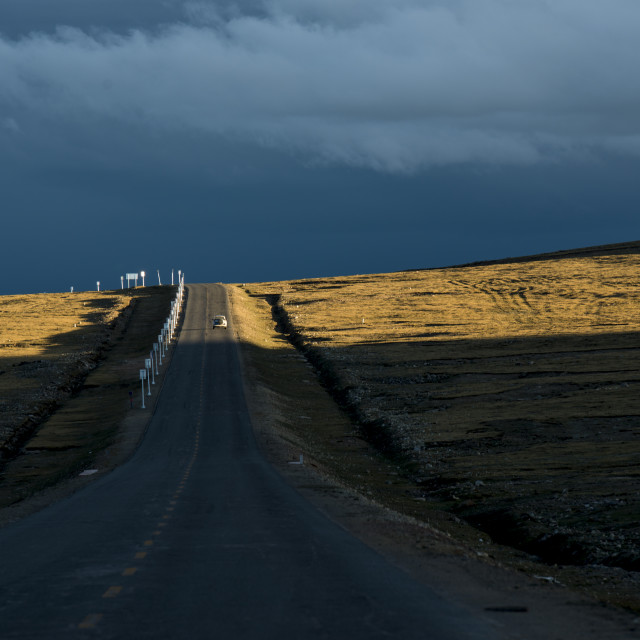 """State Road 109, tibet"" stock image"