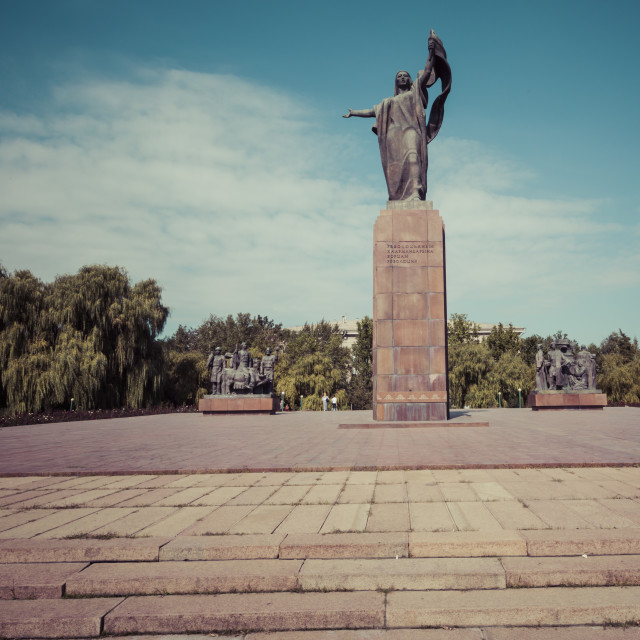 """""""Monument to the Fighters of the Revolution.Kyrgyzstan."""" stock image"""
