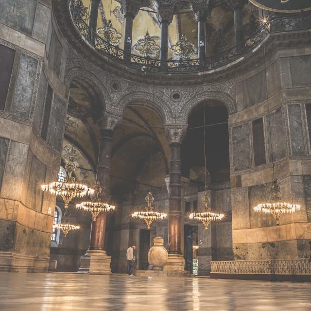 """ISTANBUL, TURKEY - DECEMBER 13, 2015: The Hagia Sophia (also called Hagia..."" stock image"
