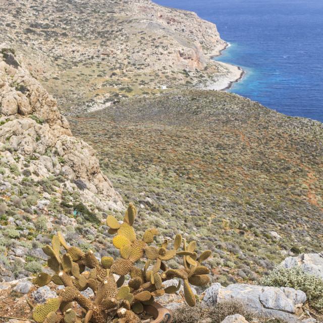 """""""Balos bay at Crete island in Greece. Area of Gramvousa."""" stock image"""