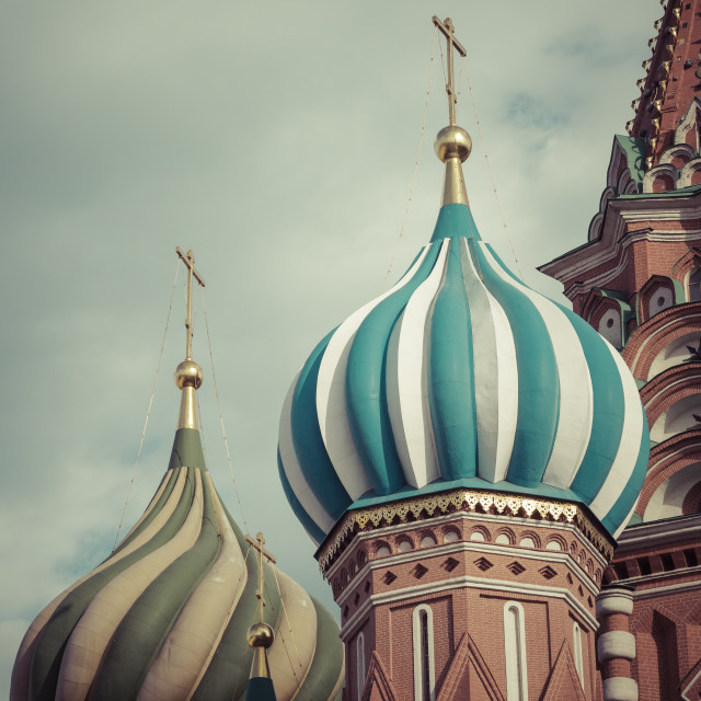 """St Basils cathedral on Red Square in Moscow"" stock image"