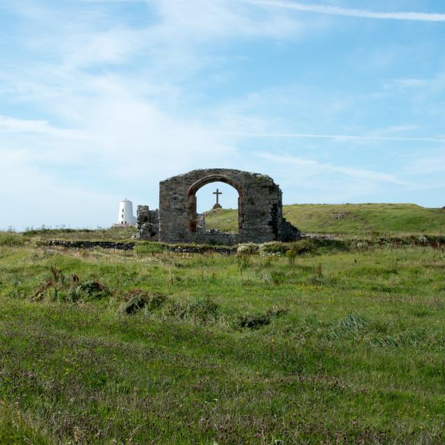 """Llanddwyn Island Anglesey North Wales"" stock image"