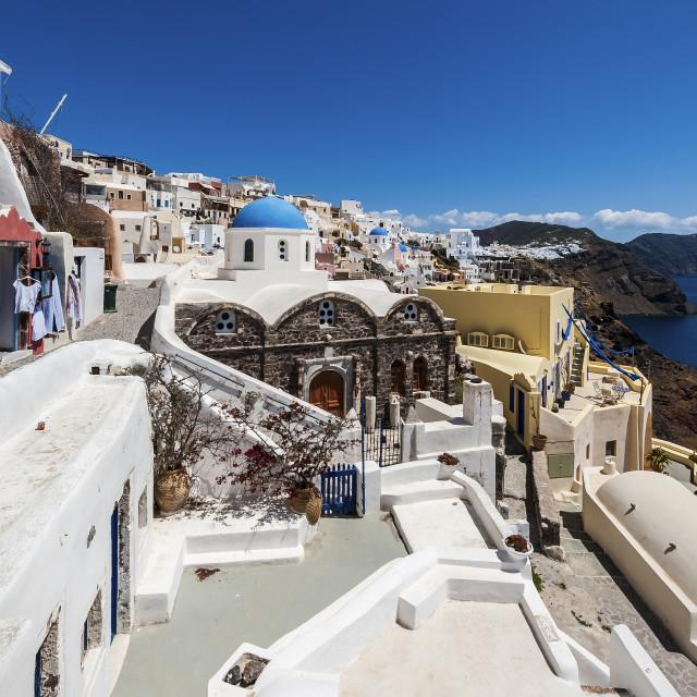 """Oia Santorini island"" stock image"