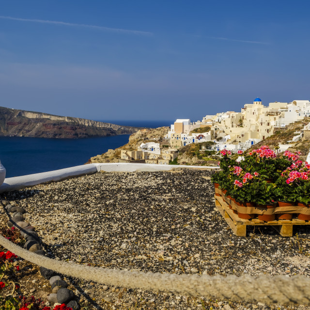 """Beautiful Oia"" stock image"