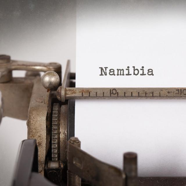 """""""Old typewriter - Namibia"""" stock image"""