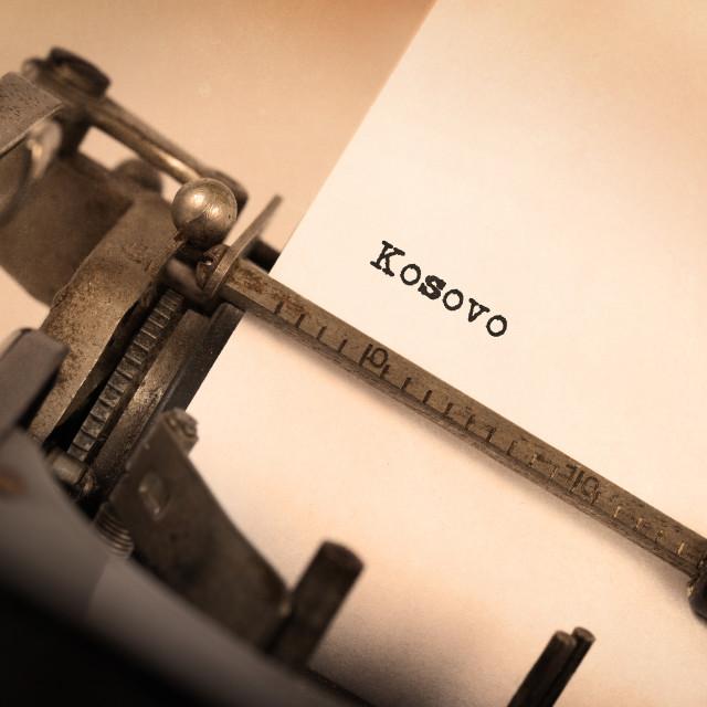 """""""Old typewriter - Kosovo"""" stock image"""
