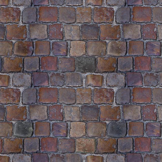 """Antique pavement, vintage HD seamless texture"" stock image"