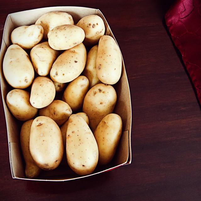 """Fresh harvested potatoes"" stock image"