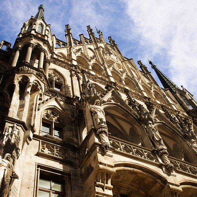 """""""Munich, Germany, view of the Rathaus (City Hall) in Marienplatz"""" stock image"""
