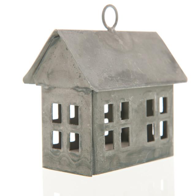 """Metal miniature house"" stock image"