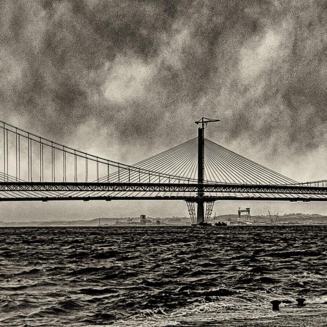 """Forth Road Bridges"" stock image"