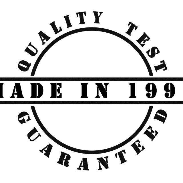 """""""Made in 1997"""" stock image"""