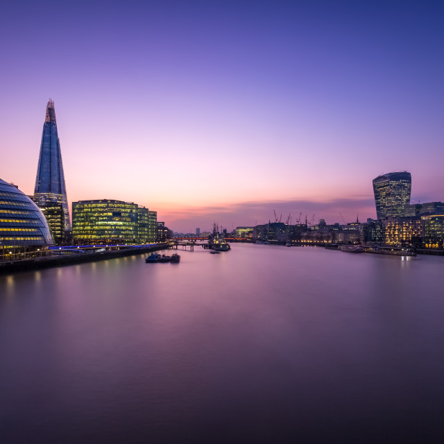 """""""London afterglow"""" stock image"""