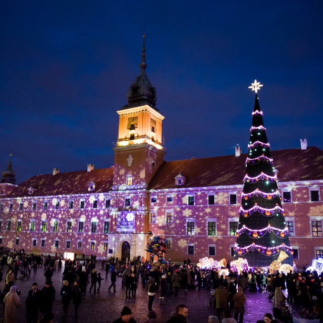 """Illuminated Christmas tree at Old Town"" stock image"