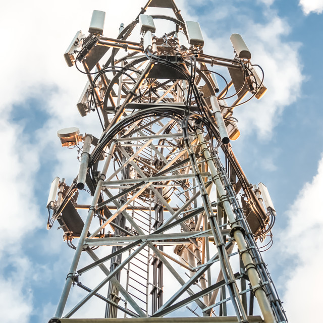 """communications tower HDR"" stock image"