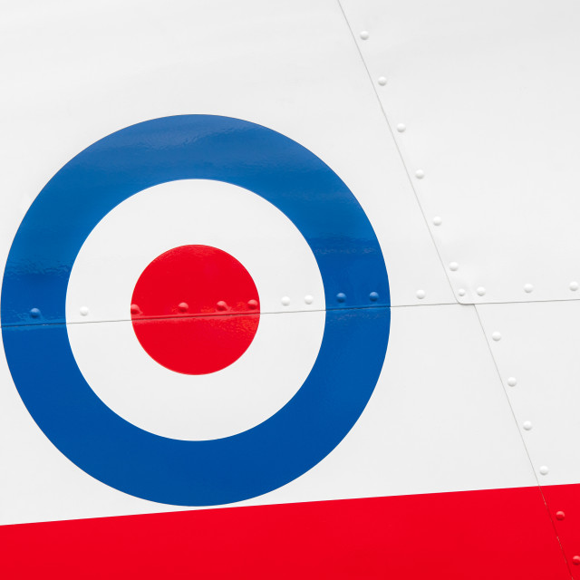 """""""vintage aircraft roundel"""" stock image"""