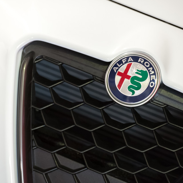 """Alfa Romeo badge"" stock image"