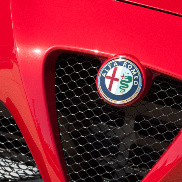 """Alfa Romeo auto badge"" stock image"