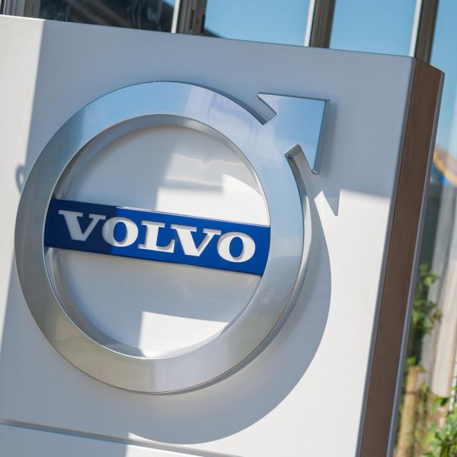 """Volvo dealership sign"" stock image"