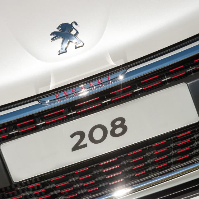 """Peugeot 208 registration plate"" stock image"