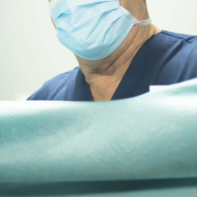 """""""Surgeon in hospital surgery"""" stock image"""