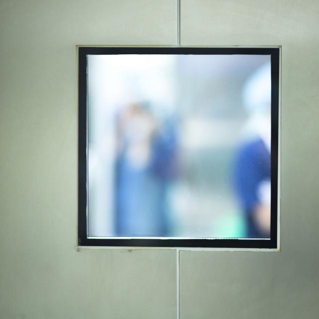 """""""Operating room surgery door"""" stock image"""
