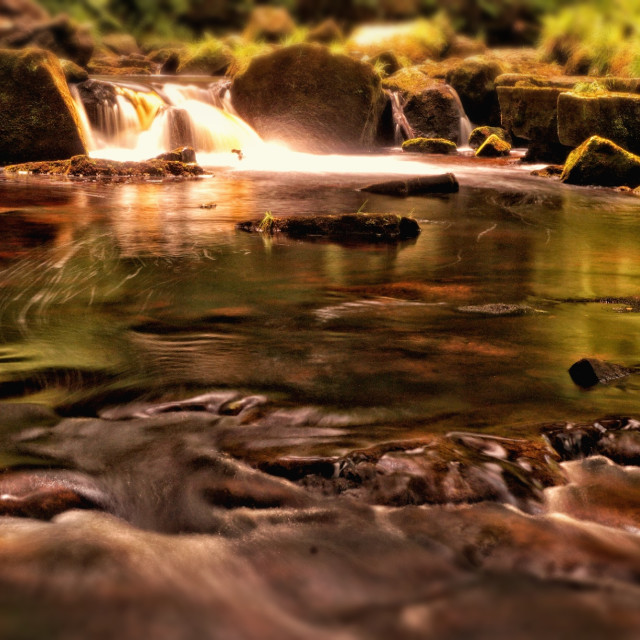 """Sunlit water"" stock image"
