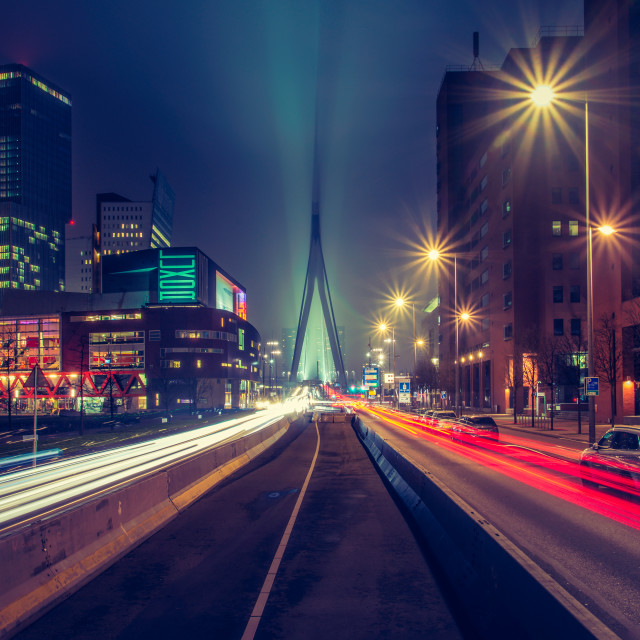 """Bright Lights, Big City I"" stock image"
