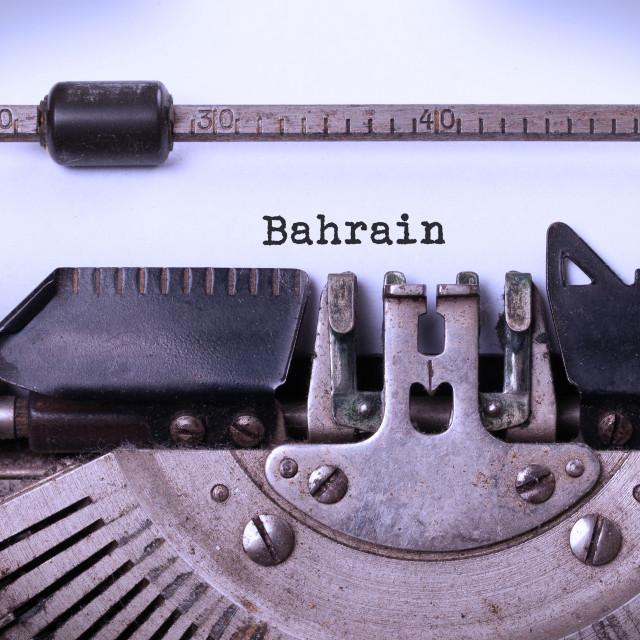 """""""Old typewriter - Bahrain"""" stock image"""