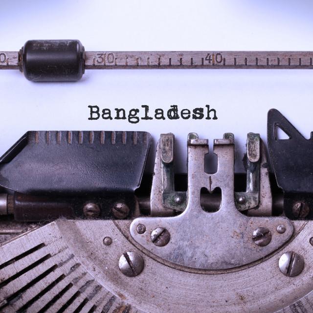 """""""Old typewriter - Bangladesh"""" stock image"""