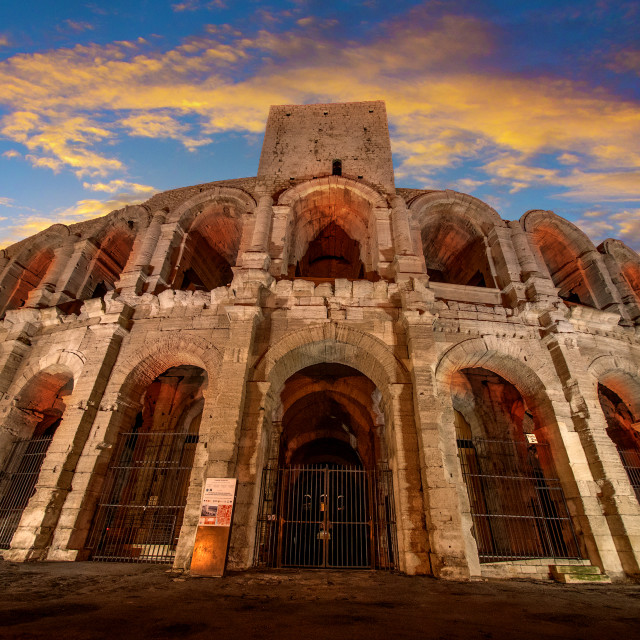 """Arena and Roman Amphitheatre, Arles, Provence, France"" stock image"