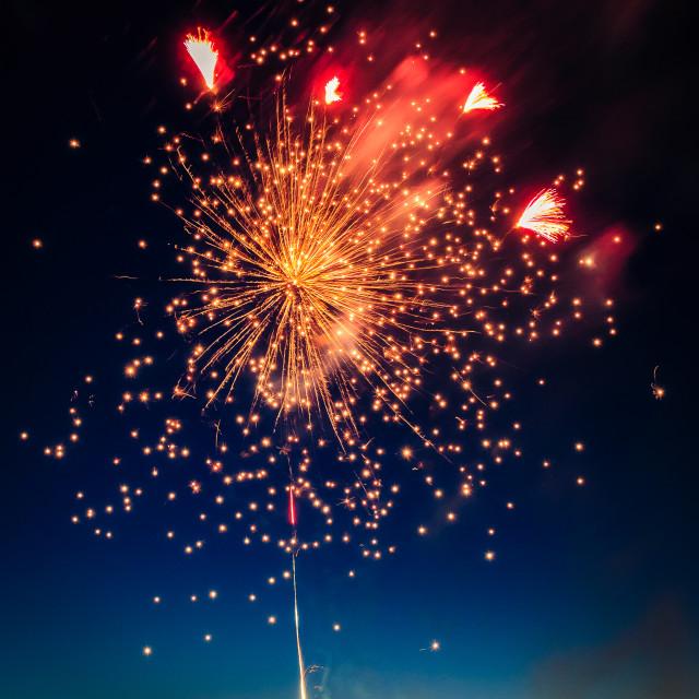 """""""Firework, Burst of Light"""" stock image"""